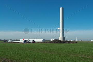 Baustelle einer Windkraftanlage