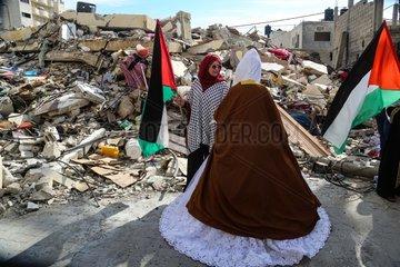 MIDEAST-GAZA-LIFE-BRIDE