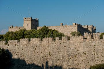 Rhodos  Griechenland  Blick auf den Grossmeisterpalast der Johanniter