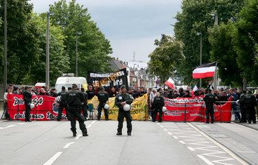 Aufmarsch von Rechtsextremisten in Bonn-Duisdorf am 12.07.2008