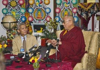 The 14th DALAI LAMA of Tibet at a press conference
