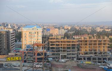 Addis Abeba  Aethiopien  Stadtansicht