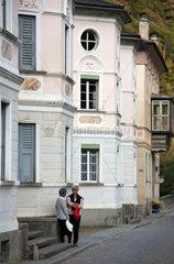 Puschlav  Schweiz  die Palazzi sind einige herrschaftliche Gebaeude aus der zweiten Haelfte des 19. Jahrhundert