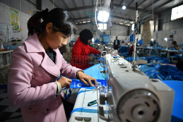CHINA-HENAN-POVERTY ALLEVIATION-MIGRANT WORKERS' WIVES (CN)