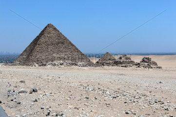 Kairo: Die Mykerinos-Pyramide in Gizeh