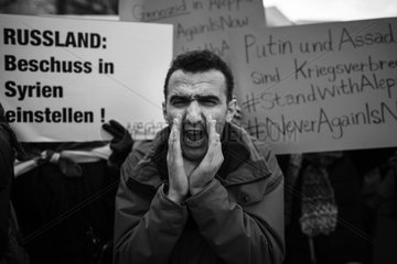Protest against Russian intervention in Syria