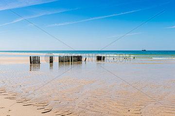 Germany  Schleswig-Holstein  Sylt  North Sea  breakwaters