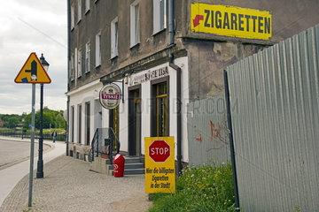 ZIgarettenhandel in Polen nach der deutschen Grenze