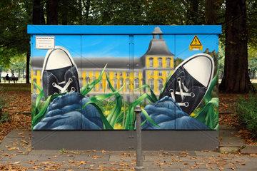 Verteilerkasten mit Graffiti