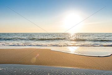 Germany  Schleswig-Holstein  Sylt  North Sea  beach against the sun