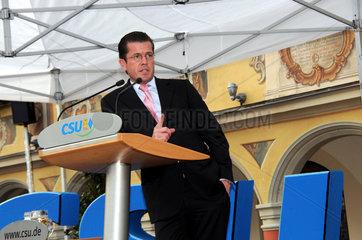 Wahlveranstaltung mit CSU-Wirtschaftsminister zu Guttenberg