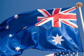 Frankreich  wehende australische Nationalflagge