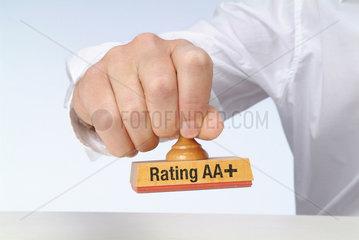 Hamburg  Deutschland  Stempel mit Rating AA+ Aufschrift