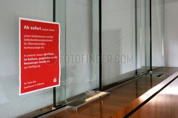 Schliessung der Sparkasse Fellheim