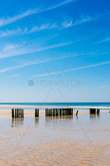 Germany  Schleswig-Holstein  Sylt  North Sea  breakwaters