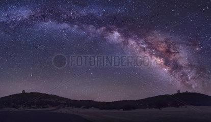 Milky Way rises the McDonald Observatory near Fort Davis  Texas.