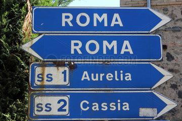 Bolsena  Italien  Wegweiser
