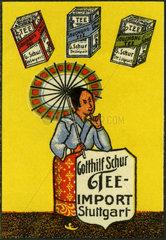 Tee-Import aus China  Werbemarke  1912
