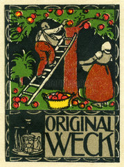 Weck Einmachglaeser  Werbemarke  1912