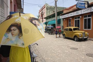 Sonnenschirm in Trinidad