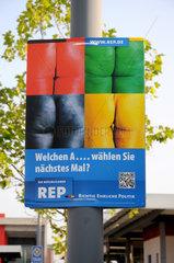 Wahlplakat der 'Republikaner'
