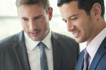 Businessman meeting with colleague