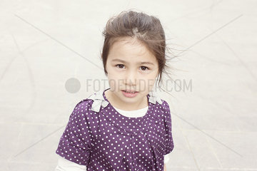 Little girl outdoors  portrait