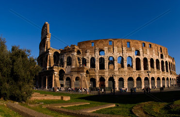 Famous Colosseum in Rome Italy Landmark Monument in Europe