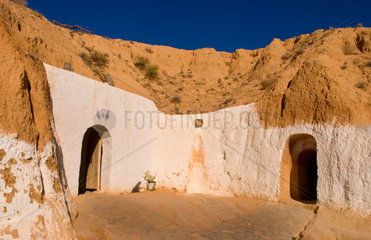 Berber Lifestyle Village Matmata Tunisia cave house in mountain Africa