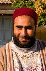 Testour in Tunisia Africa portrait of Muslim man in native dress and hat