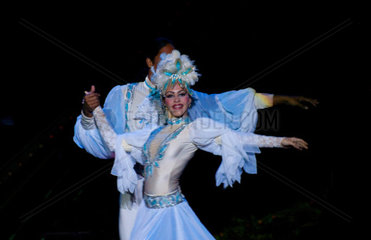 Peformers dancers at the world famous Tropicana Nightclub in Havana Habana Cuba Editorial Only