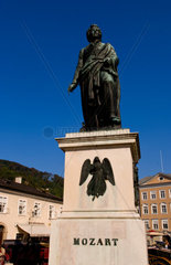 Mozart Statue in downtown Satzburg Austria