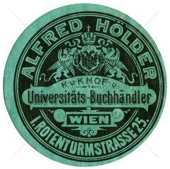 Alfred Hoelder  Universitaetsbuchandlung in Wien  1912