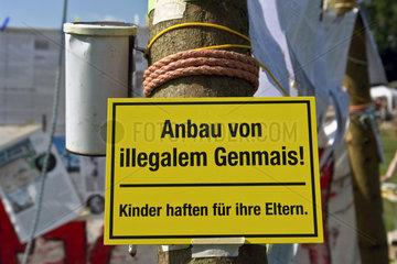Protest gegen Gen-Mais /Planet Diversity-Festival zur Biodiversity UN-Konferenz in Bonn