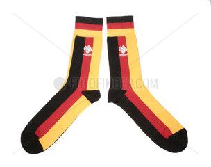 WM Socken in Deutschlandfarben