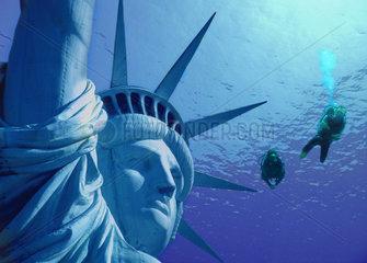 Zukunft  Erhoehung des Meeresspiegels  New York  USA