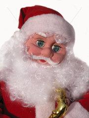 Weihnachtsmannpuppe mit Saxophon