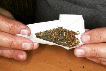 Joint   kiffen  Gras