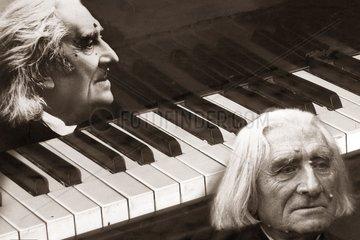 Portraet von Franz Liszt  ungarischer Komponist