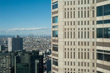 Tokio  Japan  Ein Blick auf Tokio aus dem Metropolitan Government Building