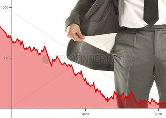 Aktienkurse Pleite  sinkende Aktienkurse