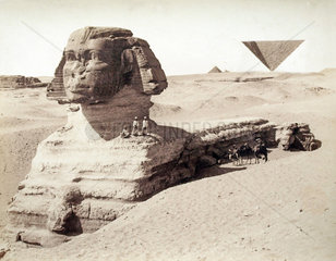 Gruppe an der Sphinx