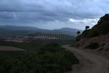 Montevecchio  Italien  Bergland im Nationalpark Costa Verde auf Sardinien