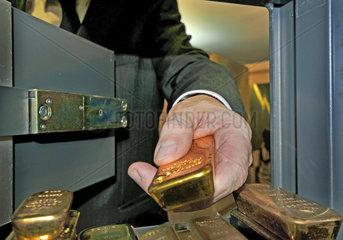 Gold im Tresor