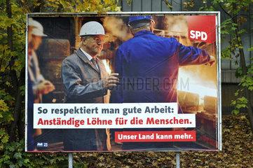 Wahlplakat Frank-Walter Steinmeier  SPD-Kanzlerkandidat 2009