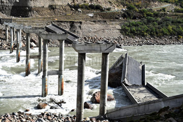 CHINA-TIBET-MENLING-BARRIER LAKE-RELIEF (CN)