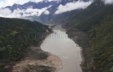 CHINA-TIBET-MENLING-BARRIER LAKE-OVERFLOW (CN)