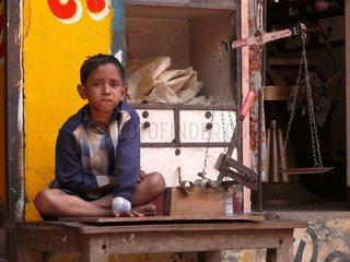 Kleiner Junge in Kolkata