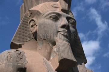 Kopf einer Pharaonenskulptur