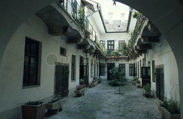 Innenhof im Budapester Burgviertel